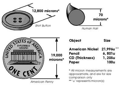 Micron Size of a Penny