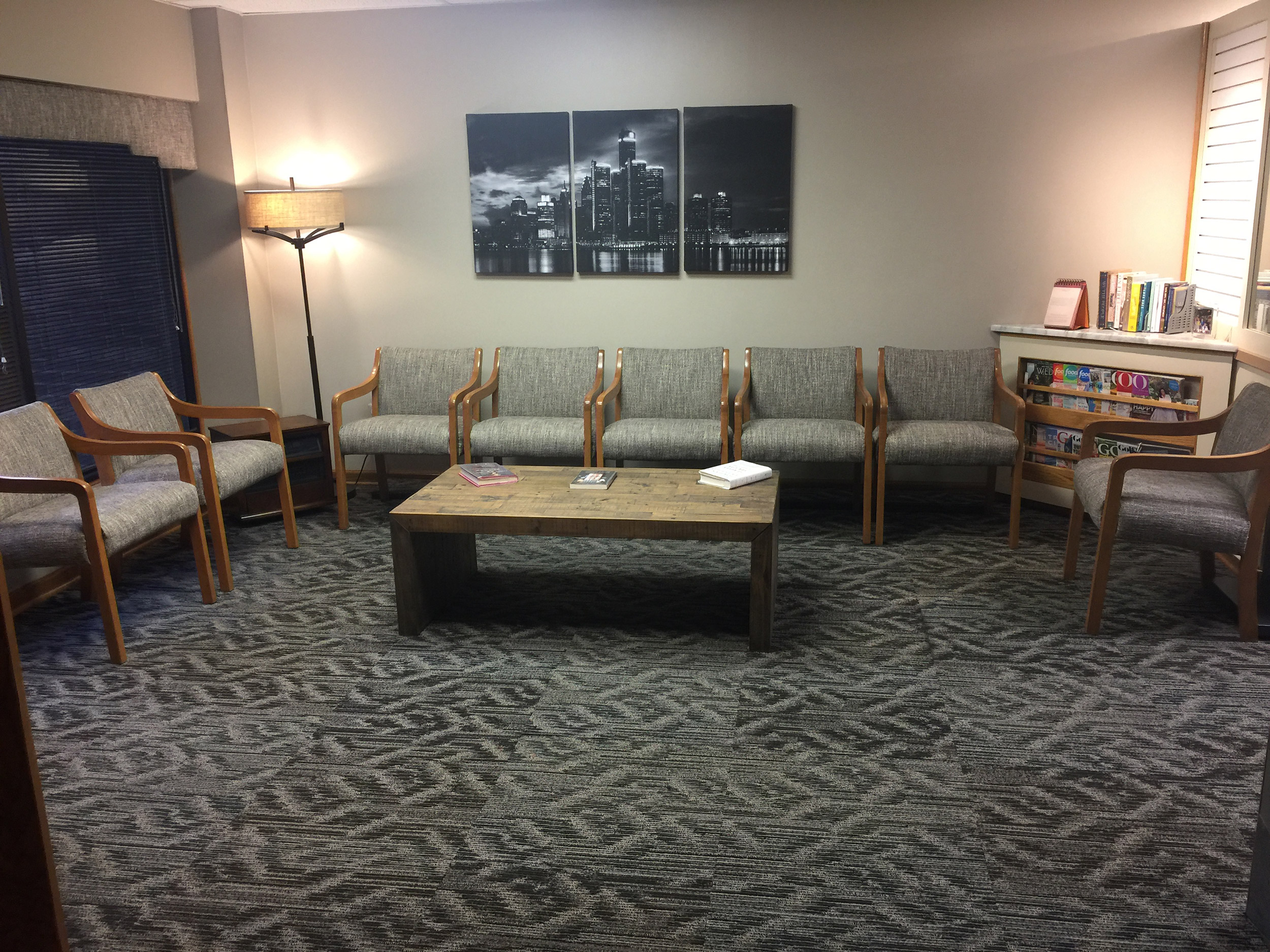 Eye Care Office Waiting Room In Shelby Twp Michigan